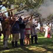 Musket volley re-enactment to celebrate Texas Independence Day, source: Austin-American Statesman